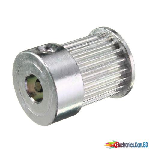 20 teeth, 5mm bore 10mm belt width T2.5 timing pulley