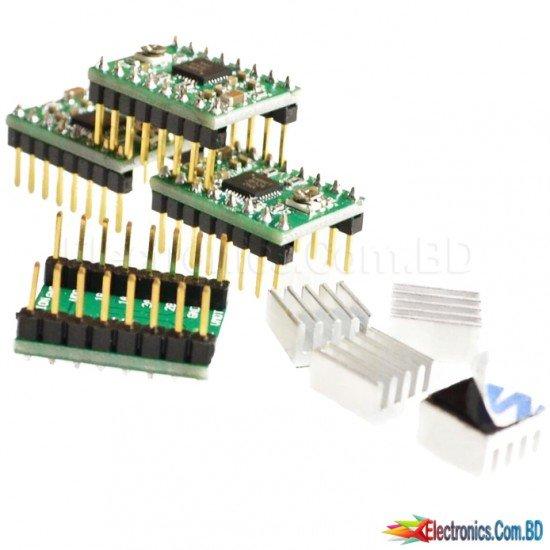 CNC Shield Board + 4Pcs A4988 Stepper Motor Driver For Arduino 3D Printer