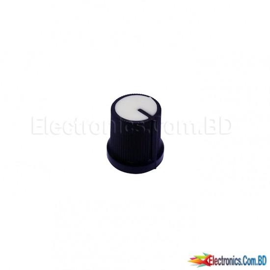 Shaft Hole Plastic Potentiometer Amplifier Knob 6mm Sound Cap Volume Control