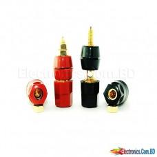 Audio Speaker Amplifier Terminal Binding Post Banana Plug Jack Socket Cable (1 PAIR)