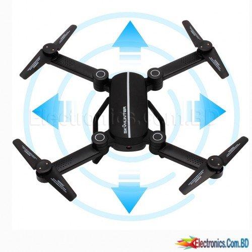 Skyhunter X8 FPV Foldable RC Drone V2, one key landing Headless mode, WIFI and transmitter control