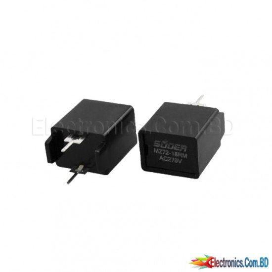 MZ72-18RM 18 Ohm AC 270V 2 Pin Black Degaussing Resistor CRT