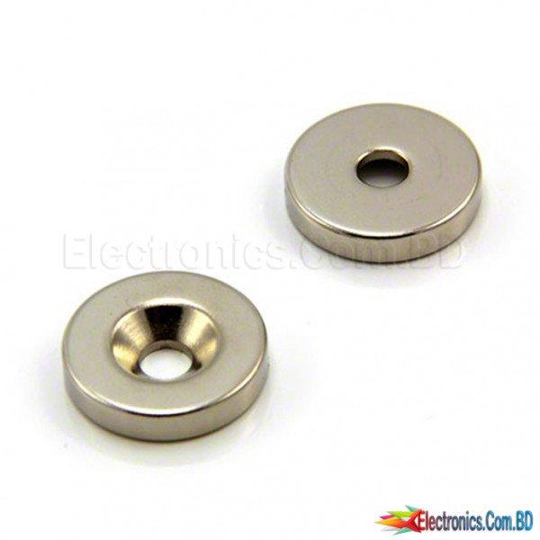 Neodymium Countersunk Ring Magnet 12 X 3 mm