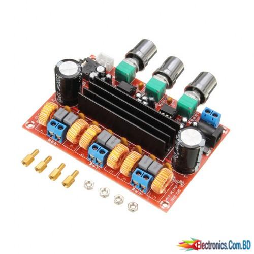 Amplifier board TPA3116D2 50Wx2 + 100 W 2.1 channel digital subwoofer Power 12 ~ 24V