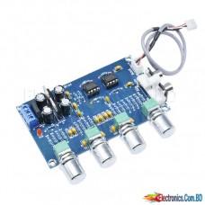 Stereo NE5532 Tone Control HiFi Pre-Amplifier Board Treble Bass