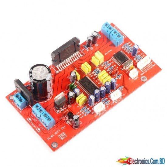 TDA7850 MOSFET Car Audio Amplifier Board 4-Channel 4*50W Treble Bass Adjustable DC/AC 12V