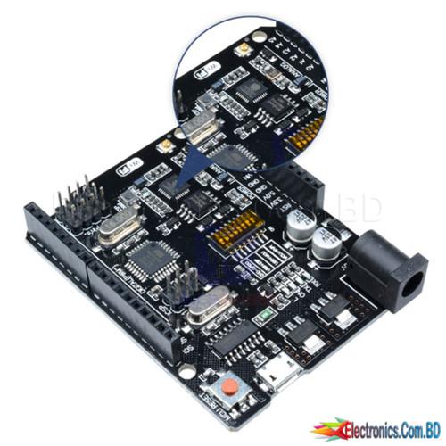 UNO + WiFi R3 ATmega328P + ESP8266 (32Mb memory), USB-TTL CH340G.Compatible for Arduino Uno, NodeMCU, WeMos ESP8266.