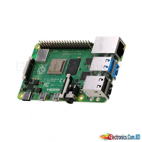 Raspberry Pi 4 Model B board with 4GB LPDDR4 SDRAM