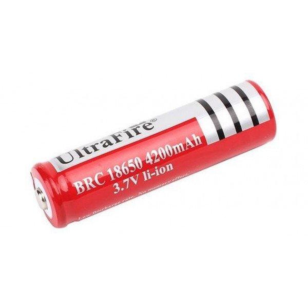 Battery Li-ion Rechargeable Ultra Fire 3.7V 4200mAh 18650 B Grade