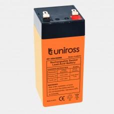 Uniross Lead Acid Battery 4V 4AH