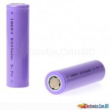 Battery 5200mAh Rechargeable Li-Ion 18650 3.7V   (1-Pcs)