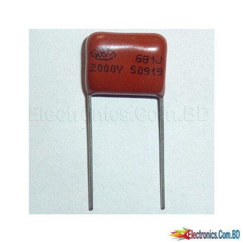 CBB 681J 2000V(2kV) CBB81 680PF 0.68NF P15 Metallized Polypropylene Film Capacitor