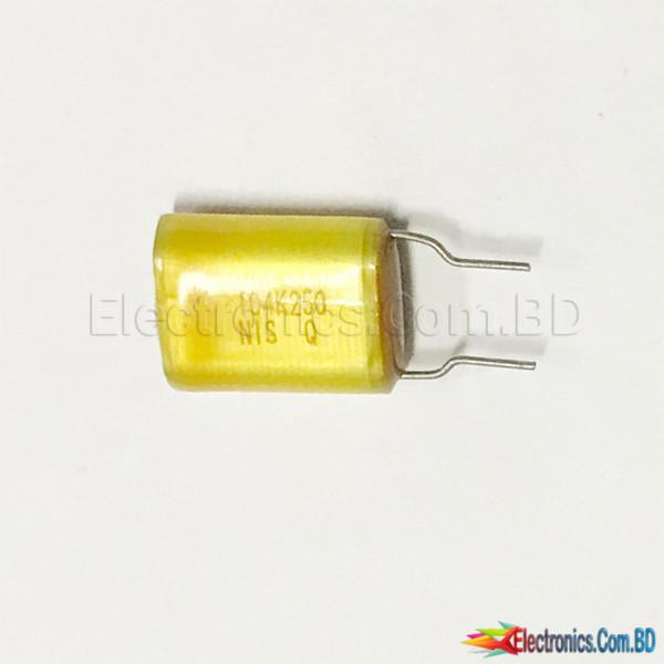 0.1uF 250V 104K Mylar Capacitor