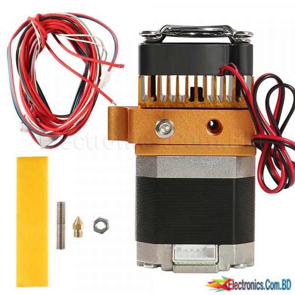 MK8 Extruder Kit 0.4mm Nozzle 1.75mm Filament J-head Hotend Extrusion 3D Printers Parts - Black CNC