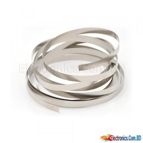 1 Feet 18650 Li-ion Battery Nickel Sheet Plate Nickel Plated Steel Belt Strip Connector  0.1 x 8 mm