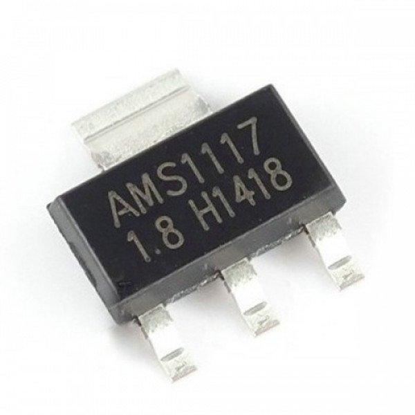 AMS1117-1.8V, 1A LDO Voltage Regulator