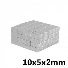 Neodymium Magnets Bar 10x5x2 mm