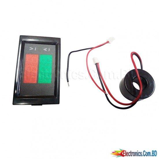 Digital AC 300V 100A Volt Amp Meter LED Panel Dual Display Ammeter