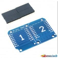 Wemos D1 Mini Dual Socket Dual Base Shield Module D1 Mini NodeMCU ESP8266 Development Adapter Base Board 3.3 VI / O