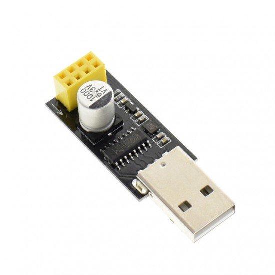 ESP01 Programmer Adapter UART GPIO0 ESP-01 Adaptater ESP8266 CH340G USB to ESP8266 Serial Wireless Wifi Developent Board Module