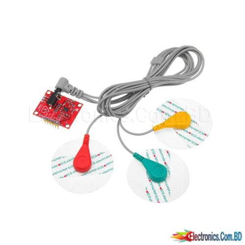 Ecg module AD8232 ecg measurement pulse heart ecg monitoring sensor module kit