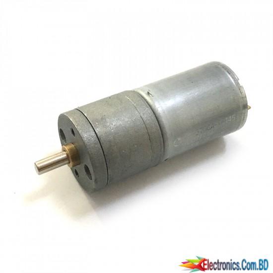12V 400RPM DC Geared Motor 50x25 mm