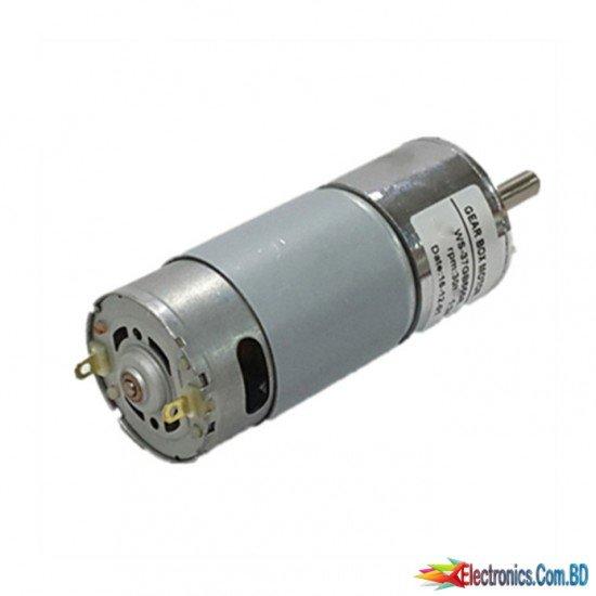 12V 60 RPM High Torque DC Gear Motor 37GB555D012