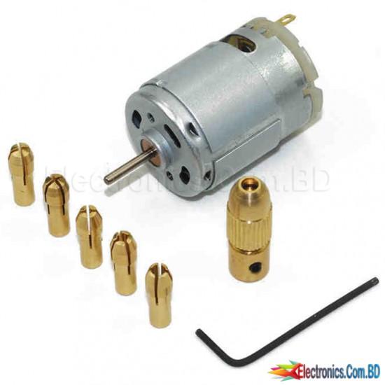 0.5-3mm Micro Twist Drill Chuck Set with 6V Motor