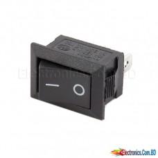 AC Rocker Switch 3 PIN Black ( 17mm x 11mm )