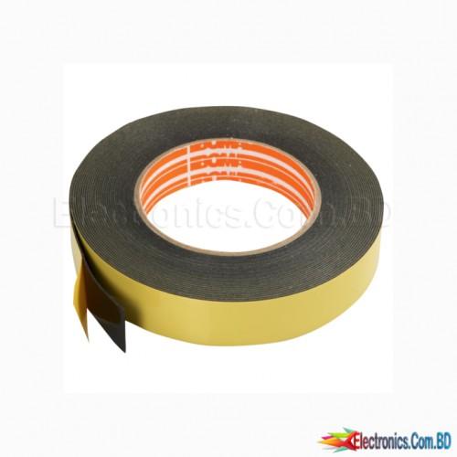 Double Sided Foam Tape Black