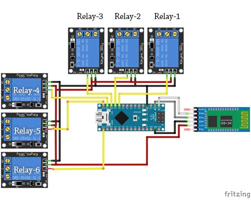 Arduino Bluetooth Basic  Multiple output controlling